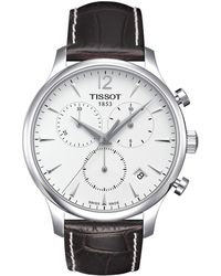 Tissot - Tradition Chronograph - T0636171603700 (mother-of-pearl/brown) Watches - Lyst