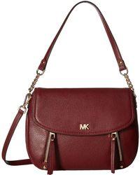 166d9988e651 MICHAEL Michael Kors - Evie Medium Shoulder Flap (black) Shoulder Handbags  - Lyst