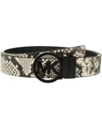 MICHAEL Michael Kors | Fulton Smooth To Logo Reversible Belt | Lyst