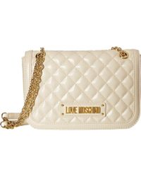Love Moschino - Shinny Quilted Shoulder Bag (blue) Cross Body Handbags - Lyst