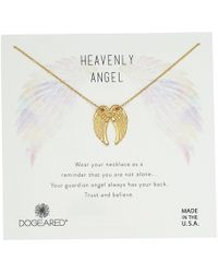 Dogeared - Heavenly Angel, Slide Through Angel Wing Necklace - Lyst