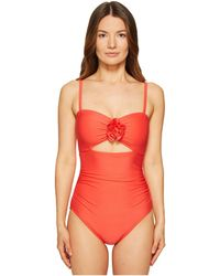 Kate Spade - Pink Sands Beach #62 Peep Hole One-piece Swimsuit W/ Removable Soft Cups - Lyst