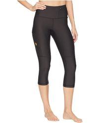 Fjallraven - Abisko Trek Tights 3/4 (dark Grey) Women's Workout - Lyst
