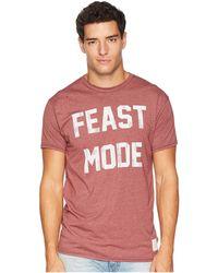 The Original Retro Brand - Feast Mode Vintage Heathered Short Sleeve Tee (heather Burgundy) Men's T Shirt - Lyst
