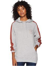 RVCA - Va All The Way Hoodie (heather Grey) Women's Sweatshirt - Lyst