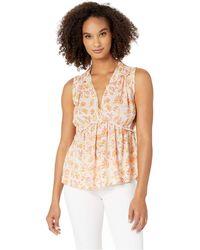 Lucky Brand - Sleeveless Romantic Ruffle Top (pink Multi) Women's Clothing - Lyst