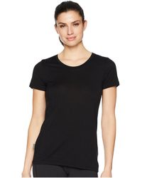 Icebreaker - Tech Lite Merino Short Sleeve Low Crewe (black) Women's Clothing - Lyst