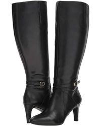 Lauren by Ralph Lauren - Elberta Wide Calf (black Burnished Calf) Women's Shoes - Lyst