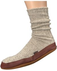 Acorn - Slipper Sock (charcoal Ragg Wool) Shoes - Lyst