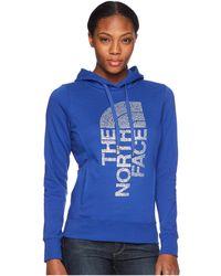 The North Face - Trivert Pullover Hoodie (brit Blue/silver Foil) Women's Sweatshirt - Lyst