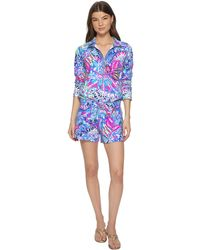 Lilly Pulitzer - Skipper Romper (multi Fantasy Garden) Women's Jumpsuit & Rompers One Piece - Lyst