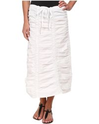 XCVI - Stretch Poplin Double Shirred Panel Skirt - Lyst