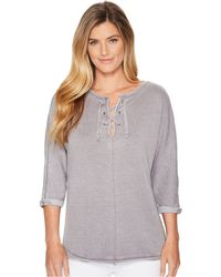 Jag Jeans - Debbie Lace-up Shirt (conch Shell) Women's Clothing - Lyst