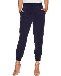 Two By Vince Camuto - Twill Ribbed Jogger (black Iris) Women's Casual Pants - Lyst