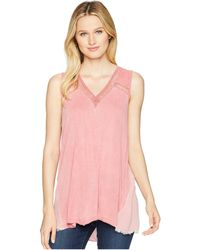 XCVI - Avery Tank Top (distressed Evening Wash) Women's Sleeveless - Lyst
