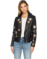 Scully - Samantha Embroidered And Studded Ladies Leather Jacket (black) Women's Coat - Lyst
