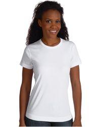 Three Dots - 100% Cotton Heritage Knit Short Sleeve Crew (black 2) Women's T Shirt - Lyst