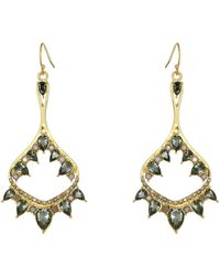 b99b07e26 Vince Camuto - Drama Drop Earrings (gold/light Grey Opal/metallic Khaki)