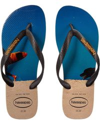 cac9219d6c76 Lyst - Havaianas Hype Palm Tree Flip Flops in Black for Men