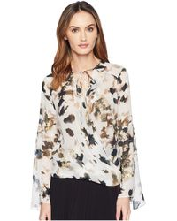 Kenneth Cole - Wrapped Front Flouncy Sleeve Top (urban Camouflage/multi) Women's Clothing - Lyst