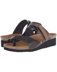 Naot - Jessica (vintage Slate Leather/mirror Leather) Women's Sandals - Lyst
