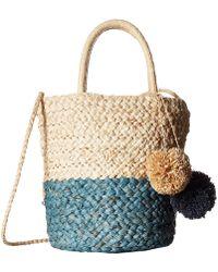 Hat Attack - Bi-color Bag (natural/denim) Bags - Lyst