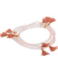 Shashi - Laila Crystal Wrap Bracelet - Lyst