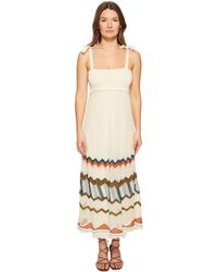 RED Valentino - Multicolor Chevron Intarsia Knit Dress - Lyst