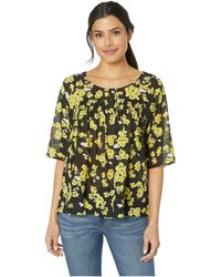 653f5fef05c Gibson X Glam Squad Pliss? Faux Wrap Top (regular & Petite) (nordstrom  Exclusive) in Black - Lyst