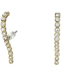 Vince Camuto - Pave Lobe Post Earrings (silver) Earring - Lyst