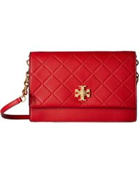 52e405ce0783 Lyst - Tory burch Women s Pink Leather Shoulder Bag in Pink