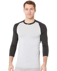 0fc4fb97 Nike - Pro 3/4 Sleeve Baseball Top (black/wolf Grey) Men's