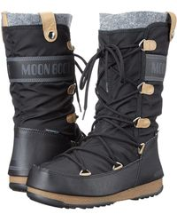 Tecnica - Moon Boot(r) Monaco Felt (black) Women's Cold Weather Boots - Lyst