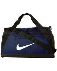 Nike - Brasilia Small Training Duffel Bag (green Abyss/black/white) Duffel Bags - Lyst