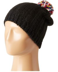 Hat Attack - Rib Slouchy With Pom - Lyst
