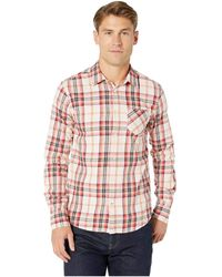 Scotch & Soda - Regular Fit Ams Blauw Brushed Cotton Checked Shirt (combo A) Men's Clothing - Lyst