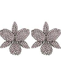 Nina - Pave Large Orchid Earrings (rose Gold/silk Swarovski) Earring - Lyst