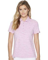 Skechers - Go Golf Space Dye Polo (light Pink) Women's Clothing - Lyst