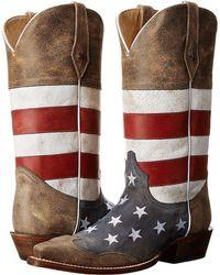 Roper - American Flag Snip Toe - Lyst