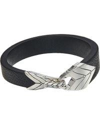 John Hardy - Modern Chain Station Bracelet In Leather - Lyst