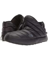 40906c5fef The North Face - Thermoball Traction Bootie (shiny Tnf Black dark Shadow  Grey)