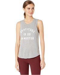 7ce2e72d71abe Spiritual Gangster - Gratitude Muscle Tank Top (medium Heather Grey) Women s  Sleeveless - Lyst