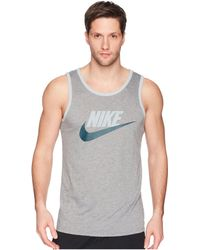 94c29cff29bc8e Nike - Ace Logo Tank Top (white black university Red) Men s Sleeveless