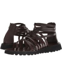 Massimo Matteo - Back Zip Gladiator ((tdm) Dark Brown) Men's Sandals - Lyst