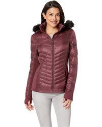 MICHAEL Michael Kors - Zip Front Knit And Down Jacket A820142g (plum) Women's Coat - Lyst