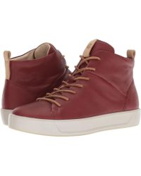 Ecco - Soft 8 High Top Ii (fire Brick Camel Leather) Women's Shoes - Lyst