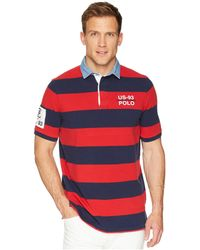 Polo Ralph Lauren - Basic Mesh Short Sleeve Knit (cruise Navy/deckwash White) Men's Clothing - Lyst