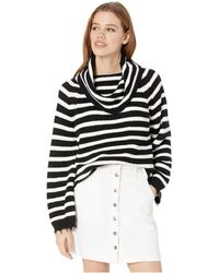 Sanctuary - Jagger Cowl Neck Sweater In Black & White - Lyst