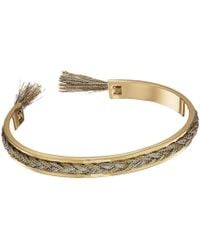 Rebecca Minkoff - Feather Oval Hinge Bracelet - Lyst