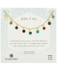 Dogeared - Seek It All, Multi Bezeled Gem Necklace (gold) Necklace - Lyst